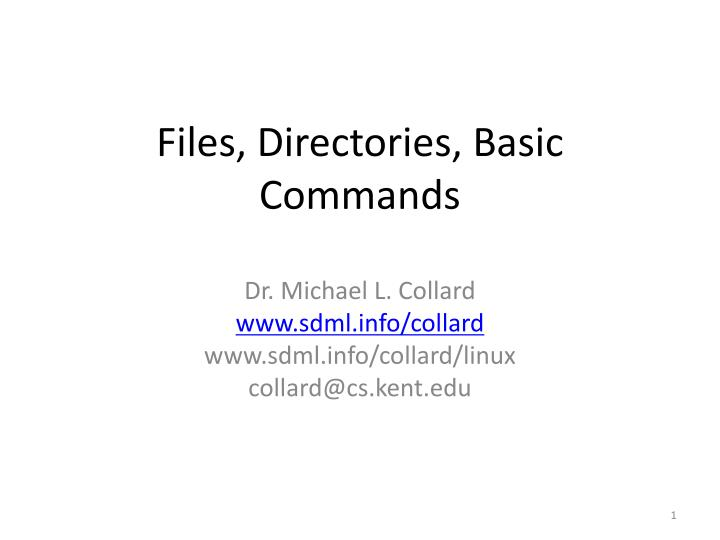 files directories basic commands n.