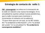 estrategia de contacto de radio 1