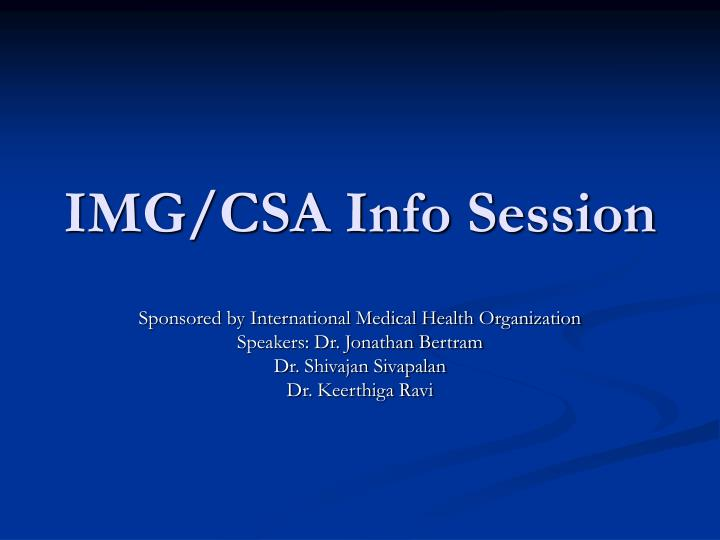 img csa info session n.