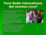 farm radio international qui sommes nous