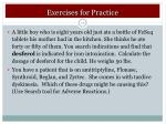 exercises for practice1
