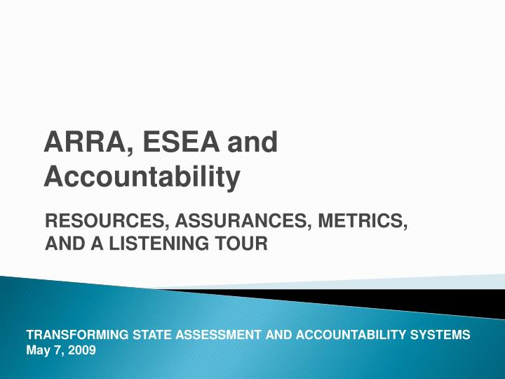 arra esea and accountability n.