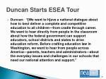 duncan starts esea tour1