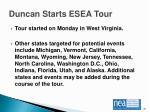 duncan starts esea tour2