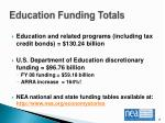 education funding totals