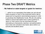 phase two draft metrics8