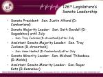 126 th legislature s senate leadership