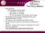 legislative advocacy the policy makers