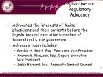 legislative and regulatory advocacy