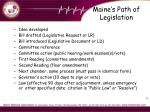 maine s path of legislation