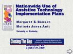 nationwide use of assistive technology implementation plans