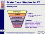 state case studies in at