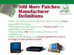 still more patches manufacturer definitions