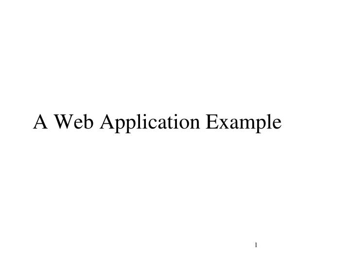 a web application example n.