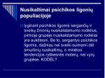 nusikaltimai psichikos ligoni populiacijoje