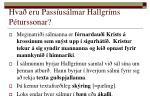 hva eru pass us lmar hallgr ms p turssonar1