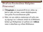 hva eru pass us lmar hallgr ms p turssonar2
