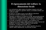 il ripensamento del welfare la dimensione locale