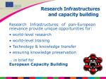research infrastructures and capacity building