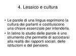 4 lessico e cultura