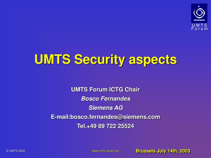 umts security aspects n.