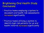 brightening oral health study conclusions