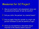 measures for sc project