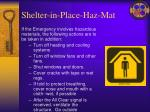 shelter in place haz mat