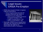 legal issues erisa pre emption