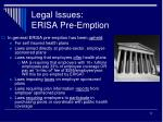 legal issues erisa pre emption1