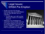 legal issues erisa pre emption2