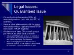 legal issues guaranteed issue