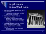 legal issues guaranteed issue1