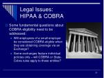 legal issues hipaa cobra