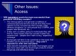 other issues access1