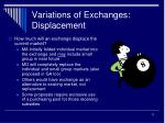 variations of exchanges displacement