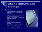 what are health insurance exchanges