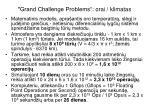 grand challenge problems orai klimatas1