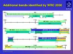 additional bands identified by wrc 2000