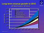 l ong term revenue growth to 2010