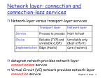 network layer connection and connection less services