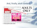 and finally adult content