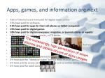 apps games and information are next
