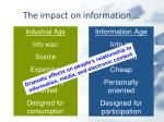 the impact on information