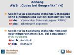 anhang awb codes bei geografika 4