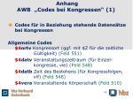 anhang awb codes bei kongressen 1