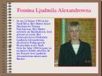 fomina ljudmila alexandrowna