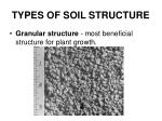 types of soil structure