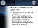 facts about landslides and debris flow