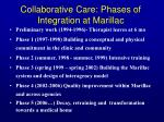 collaborative care phases of integration at marillac
